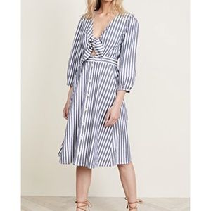 Madewell shimmer stripe cutout dress size 4